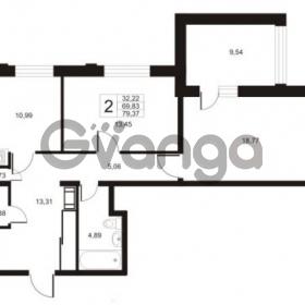 Продается квартира 2-ком 79.37 м² улица Катерников 1, метро Проспект Ветеранов