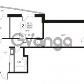 Продается квартира 2-ком 71.91 м² улица Катерников 1, метро Проспект Ветеранов