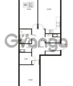 Продается квартира 2-ком 96.88 м² улица Катерников 1, метро Проспект Ветеранов