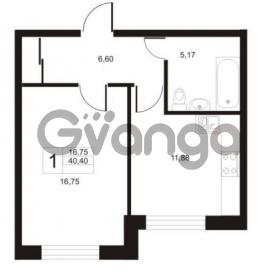 Продается квартира 1-ком 40.4 м² улица Катерников 1, метро Проспект Ветеранов