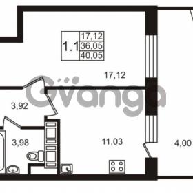 Продается квартира 1-ком 36.05 м² улица Катерников 1, метро Проспект Ветеранов