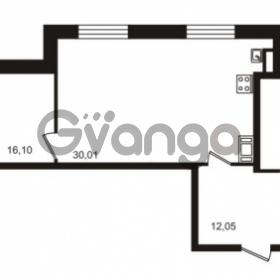 Продается квартира 2-ком 77.43 м² улица Катерников 1, метро Проспект Ветеранов