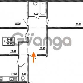 Продается квартира 3-ком 76.3 м² улица Бабушкина 82к 1, метро Пролетарская