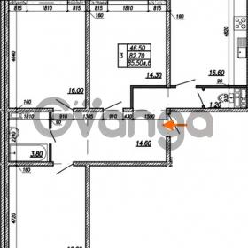 Продается квартира 3-ком 85.5 м² улица Бабушкина 82к 1, метро Пролетарская