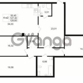 Продается квартира 3-ком 127.3 м² Малый пр. В.О. 64, метро Василеостровская