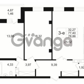 Продается квартира 2-ком 77.4 м² Малый пр. В.О. 64, метро Василеостровская