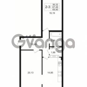 Продается квартира 2-ком 67.49 м² Малый пр. В.О. 64, метро Василеостровская