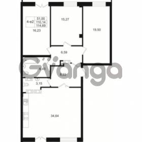 Продается квартира 3-ком 110.14 м² Малый пр. В.О. 64, метро Василеостровская