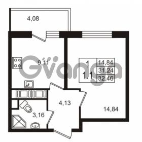 Продается квартира 1-ком 31.24 м² улица Шувалова 7, метро Девяткино