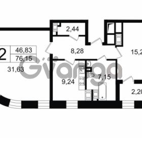 Продается квартира 2-ком 76.15 м² Новгородская улица 17, метро Чернышевская