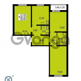 Продается квартира 3-ком 85.9 м² Южное шоссе 110, метро Международная