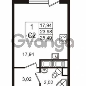 Продается квартира 1-ком 23.98 м² улица Шувалова 7, метро Девяткино