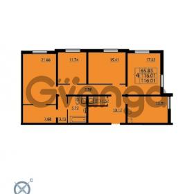 Продается квартира 4-ком 116.01 м² проспект Маршала Блюхера 12Б, метро Лесная