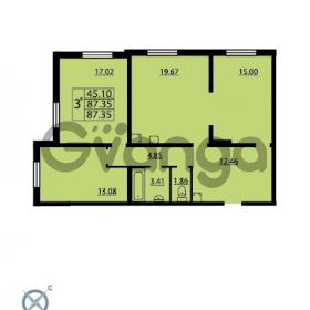 Продается квартира 2-ком 87.35 м² проспект Маршала Блюхера 12Б, метро Лесная