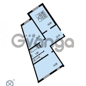 Продается квартира 2-ком 73.05 м² проспект Маршала Блюхера 12Б, метро Лесная