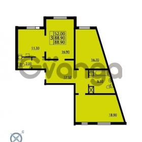 Продается квартира 3-ком 88.9 м² проспект Маршала Блюхера 12Б, метро Лесная