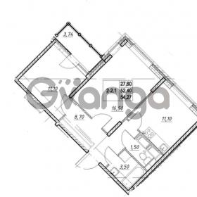 Продается квартира 2-ком 52.4 м² проспект Строителей 7, метро Улица Дыбенко