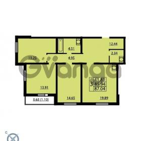 Продается квартира 3-ком 85.94 м² проспект Маршала Блюхера 12Б, метро Лесная