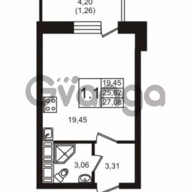 Продается квартира 1-ком 27.08 м² Новая улица 15, метро Ладожская