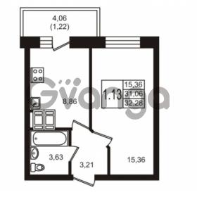 Продается квартира 1-ком 32.28 м² Новая улица 15, метро Ладожская