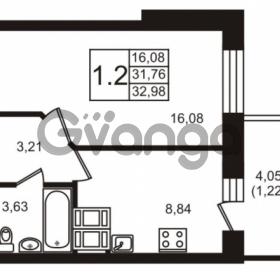Продается квартира 1-ком 31.76 м² Новая улица 15, метро Ладожская