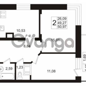Продается квартира 2-ком 49.27 м² Европейский проспект 1, метро Улица Дыбенко