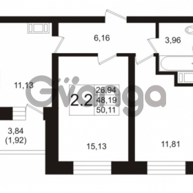 Продается квартира 2-ком 48.19 м² Пулковское шоссе 36к 4, метро Звездная