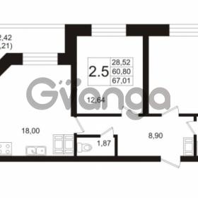 Продается квартира 2-ком 60.8 м² Пулковское шоссе 36к 4, метро Звездная