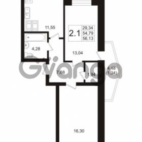 Продается квартира 2-ком 54.79 м² Пулковское шоссе 36к 4, метро Звездная