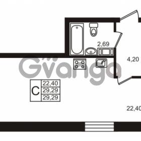 Продается квартира 1-ком 29.29 м² Центральная улица 83, метро Ладожская