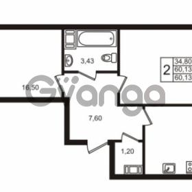 Продается квартира 2-ком 60.13 м² Центральная улица 83, метро Ладожская