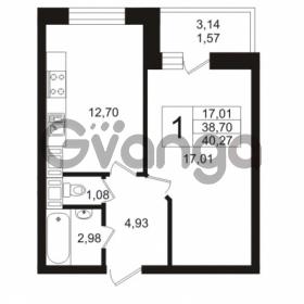 Продается квартира 1-ком 38.7 м² Кушелевская дорога 5к 5, метро Лесная