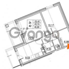 Продается квартира 2-ком 43.15 м² улица Шувалова 1, метро Девяткино