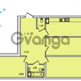 Продается квартира 3-ком 83.04 м² Центральная улица 83, метро Ладожская