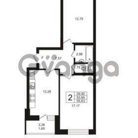 Продается квартира 2-ком 53.94 м² Кушелевская дорога 5к 5, метро Лесная