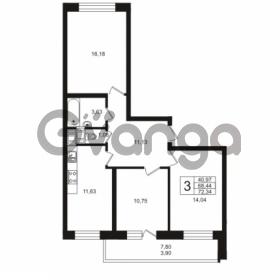 Продается квартира 3-ком 68.44 м² Кушелевская дорога 5к 5, метро Лесная