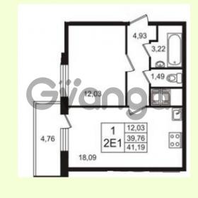 Продается квартира 1-ком 39.76 м² Английская улица 1, метро Улица Дыбенко