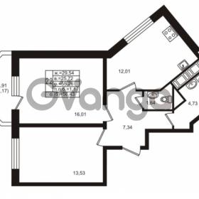 Продается квартира 2-ком 55.26 м² улица Шувалова 1, метро Девяткино