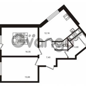Продается квартира 2-ком 56.03 м² улица Шувалова 1, метро Девяткино
