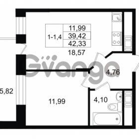 Продается квартира 1-ком 39.42 м² улица Костюшко 19, метро Московская