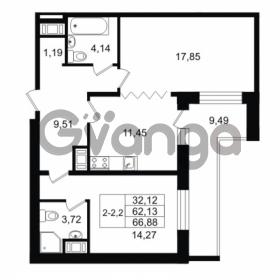 Продается квартира 2-ком 62.13 м² улица Костюшко 19, метро Московская