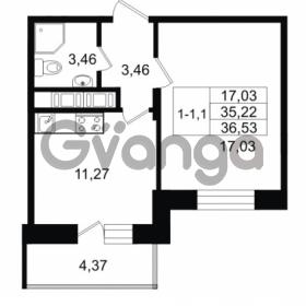 Продается квартира 1-ком 35.22 м² улица Костюшко 19, метро Московская