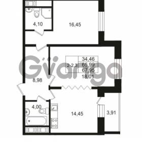 Продается квартира 2-ком 65.99 м² улица Костюшко 19, метро Московская