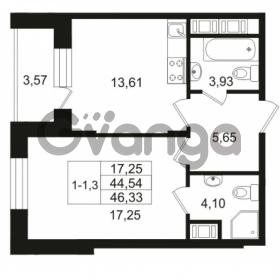 Продается квартира 1-ком 44.54 м² улица Костюшко 19, метро Московская