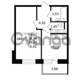 Продается квартира 1-ком 38.14 м² улица Костюшко 19, метро Московская