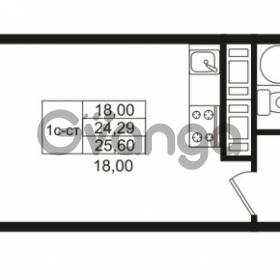Продается квартира 1-ком 24.29 м² улица Костюшко 19, метро Московская