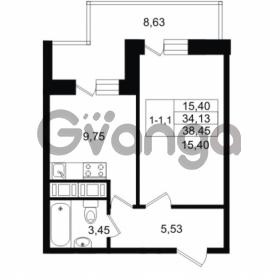 Продается квартира 1-ком 34.13 м² улица Костюшко 19, метро Московская