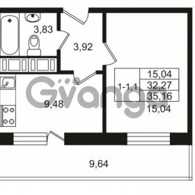 Продается квартира 1-ком 32.29 м² улица Костюшко 19, метро Московская