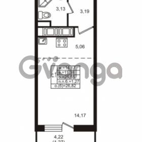Продается квартира 1-ком 25.55 м² улица Шувалова 1, метро Девяткино