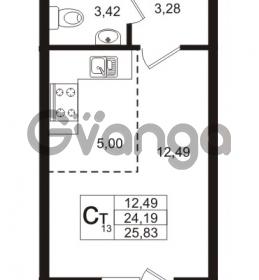 Продается квартира 1-ком 24.19 м² Охтинская аллея 4, метро Девяткино